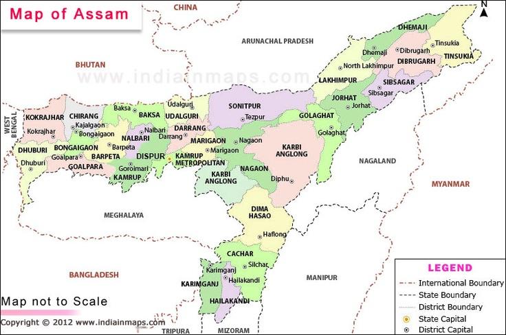 Assam map